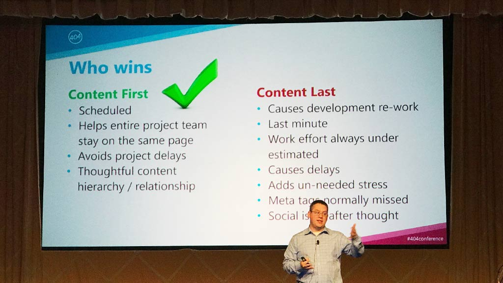 Content first wins