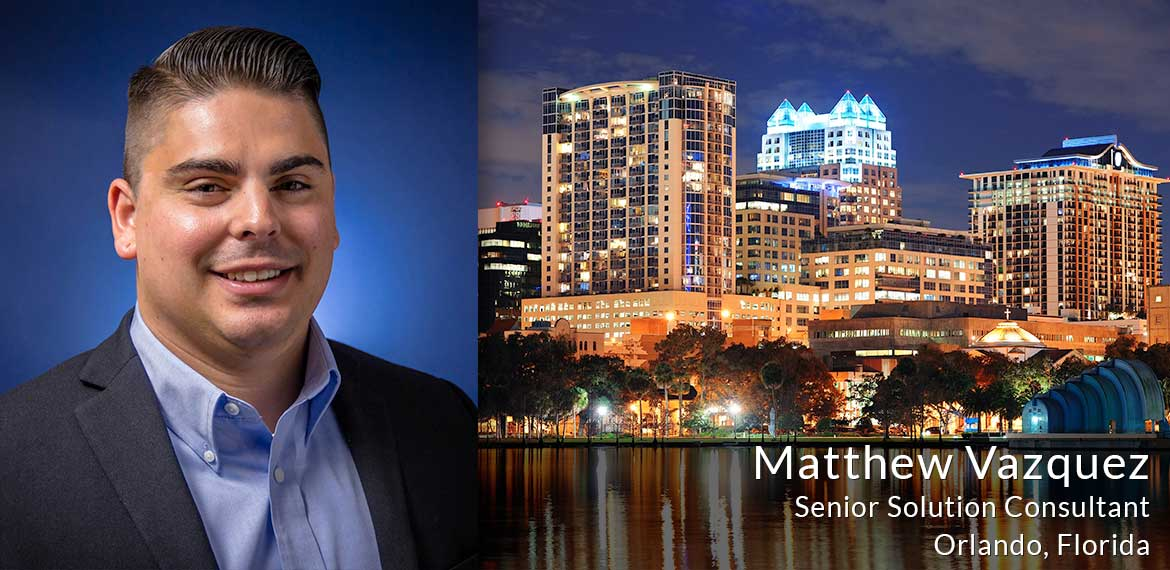 Matthew Vazquez, senior solution consultant
