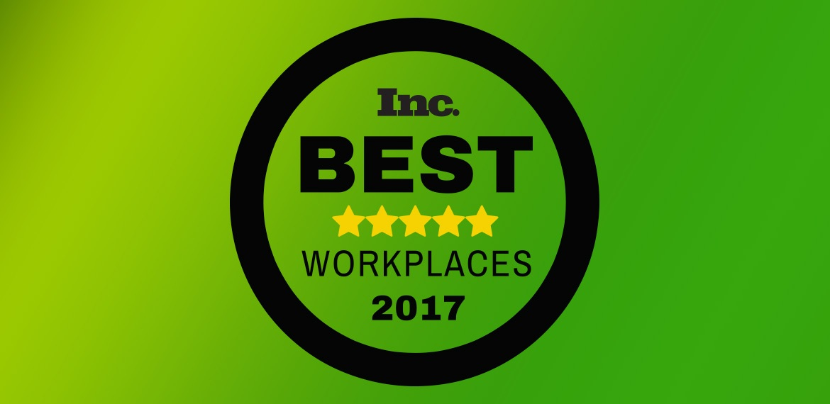 Inc Best Workplaces Winner 2017