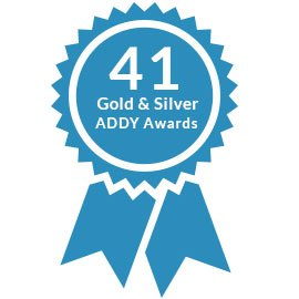 41 gold and silver addy awards