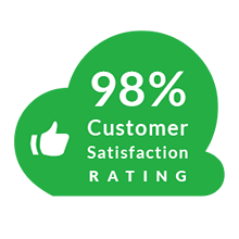 98%25 customer satisfaction rating