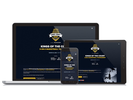 Kings of the Court Special Event Website
