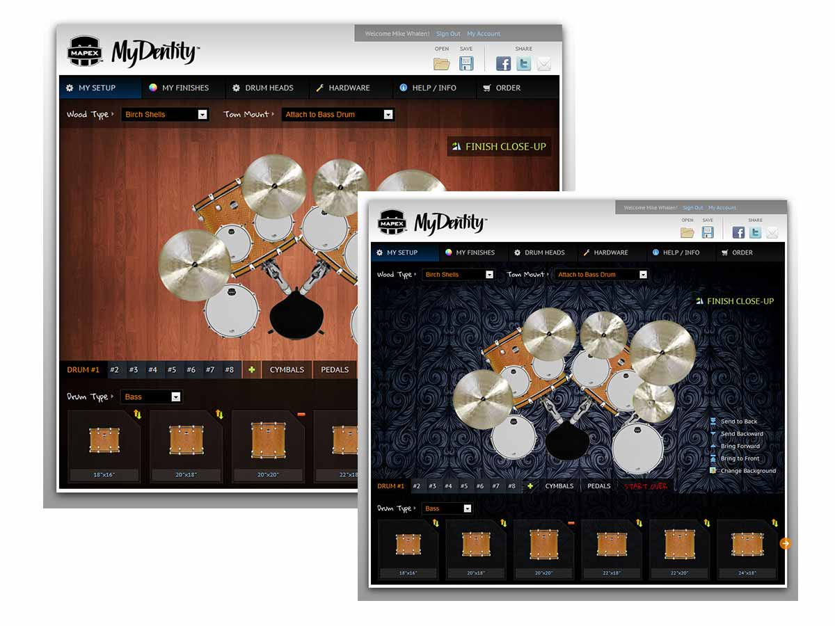 mydentity drum kit finished view