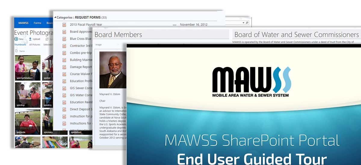new mawss sharepoint pages
