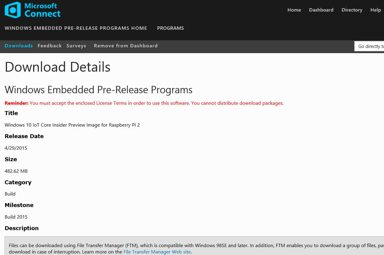Windows Embedded Pre-Release Programs