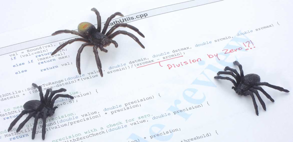 spider code bugs