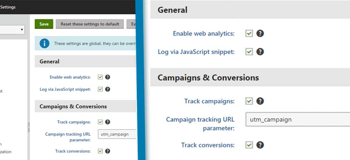 kentico campaigns and conversion tracking