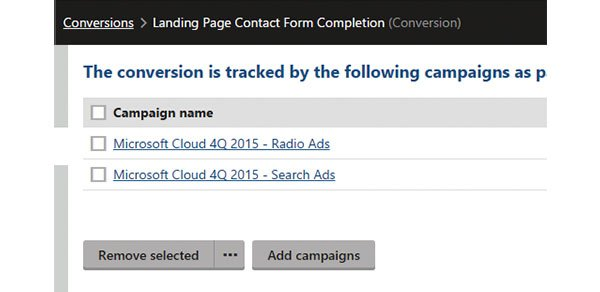 associate kentico conversions with campaigns