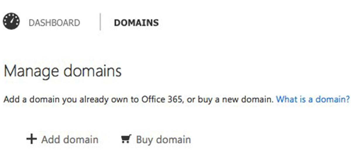 manage domains office 365