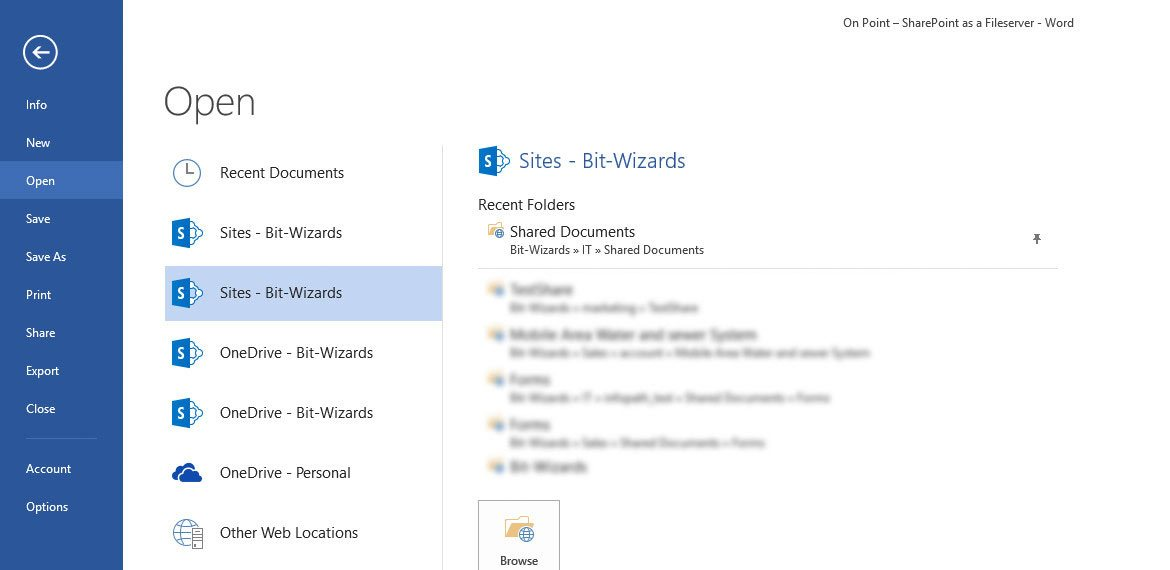 SharePoint File Access