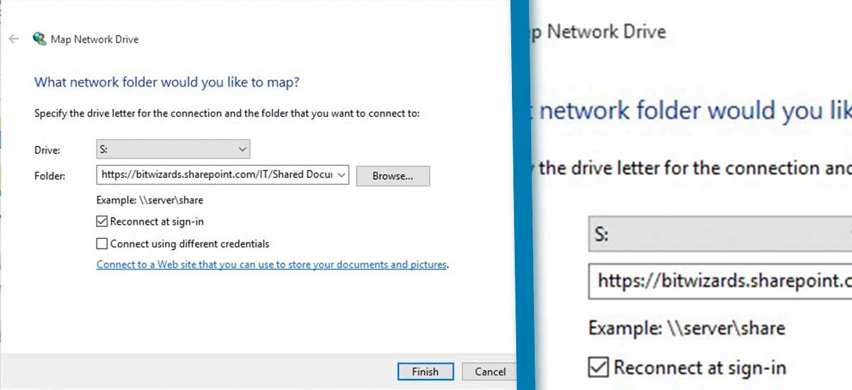 Mapping SharePoint Document Libraries as Network Drives