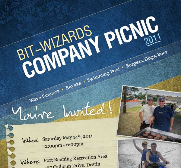 Addy award winning picnic email invitation by Steven Adams