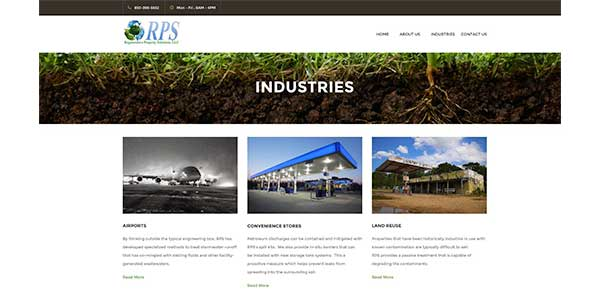 desktop view industries page