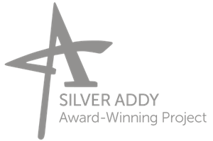 silver addy award-winning project