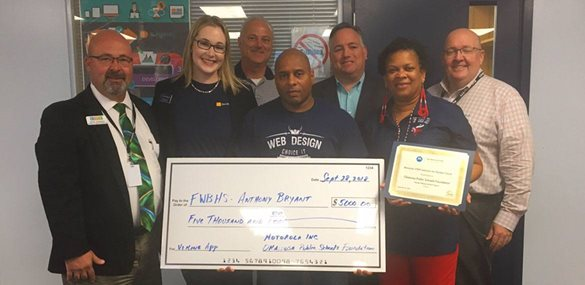 FWBHS teacher Anthony Bryant presented with STEM Grant