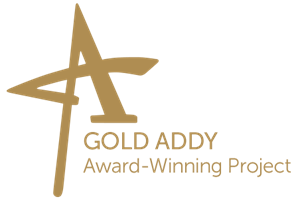 gold addy award-winning project