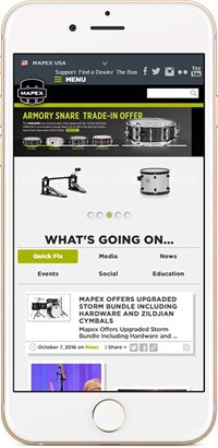 mapex website mobile view